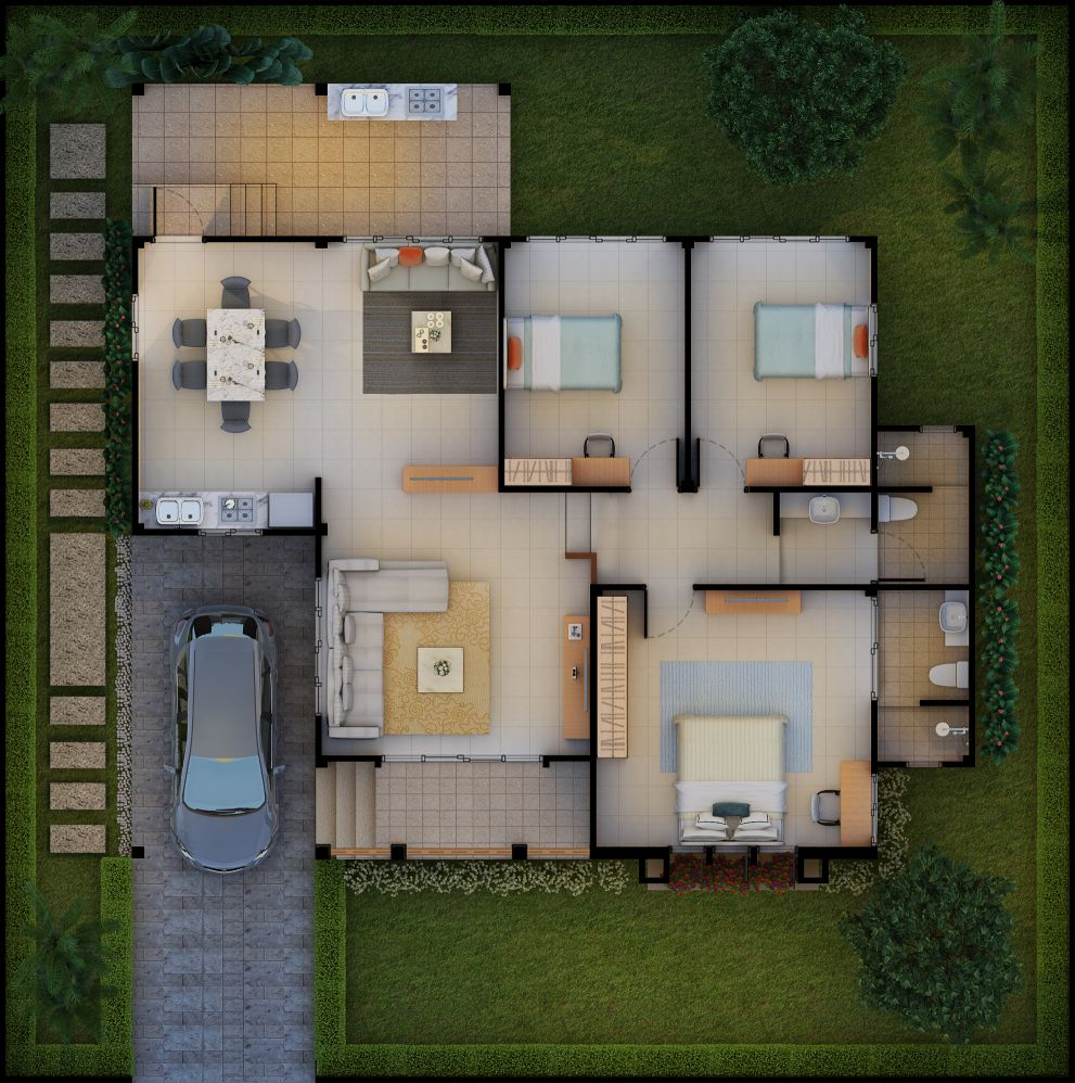 Baansuay Namsai 1 Storey Floorplan