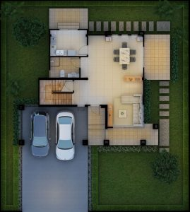 Baansuay Namsai 2 Storey Floorplan 1