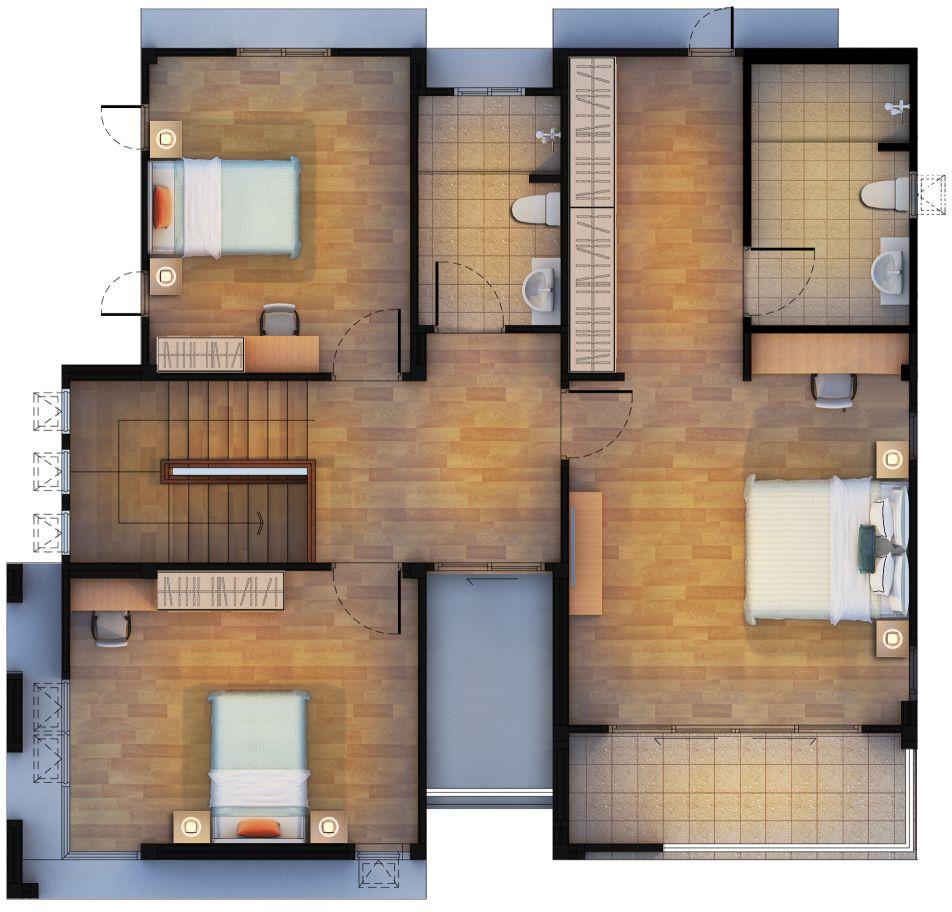 Baansuay Namsai 2 Storey Floorplan 2